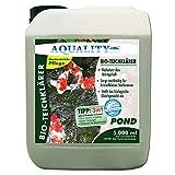 AQUALITY Gartenteich Bio-TeichKlärer 3in1 (Teichklar - Nachhaltig kristallklares Wasser, entfernt deutlich Trübungen im Teich + GRATIS Klarwasser Filtervlies), Inhalt:5 Liter