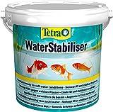 Tetra Pond WaterStabiliser - stabilisert wichtige Wasserwerte, optimiert den KH- und pH-Wert im Gartenteich, beugt weichem Teichwasser vor, 1,2 kg Eimer